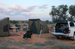 Our Campsite out in the middle of the Simpson Desert