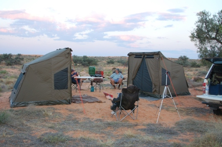 OzTent in the Simpson Desert