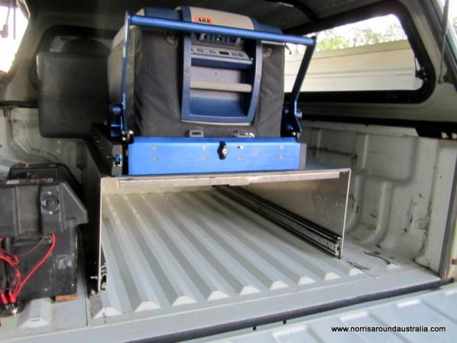 Water tank, fridge and slide - check!